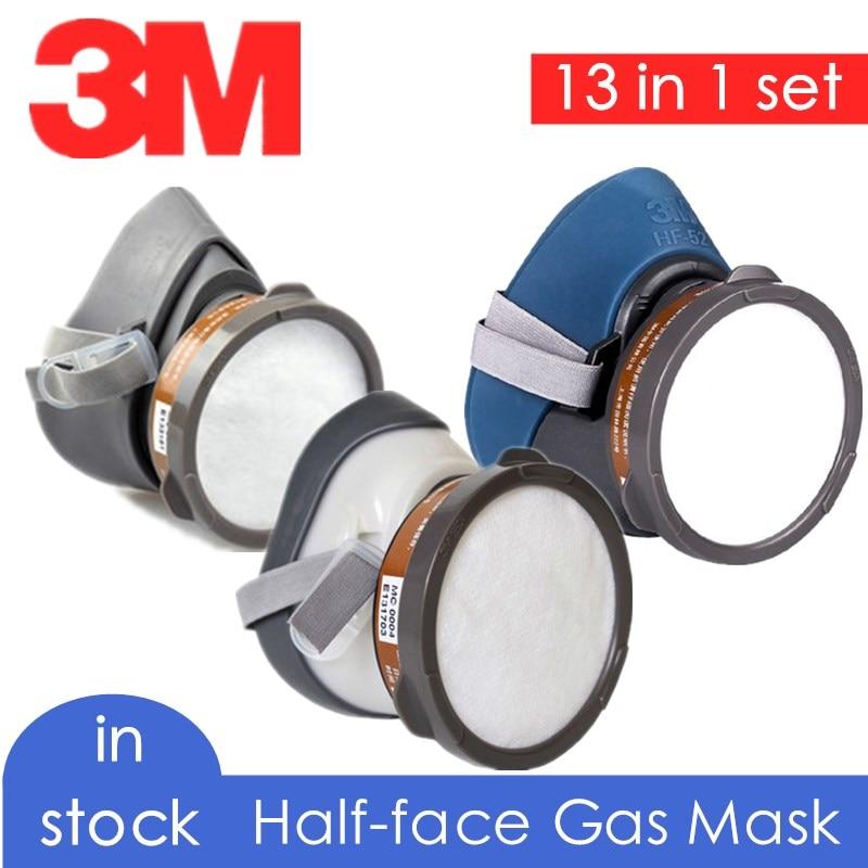 3M-máscara de Gas de media cara, respirador 1211 hf52 3200, filtro de carbón orgánico químico, algodón 3n11, paneles industriales a prueba de polvo