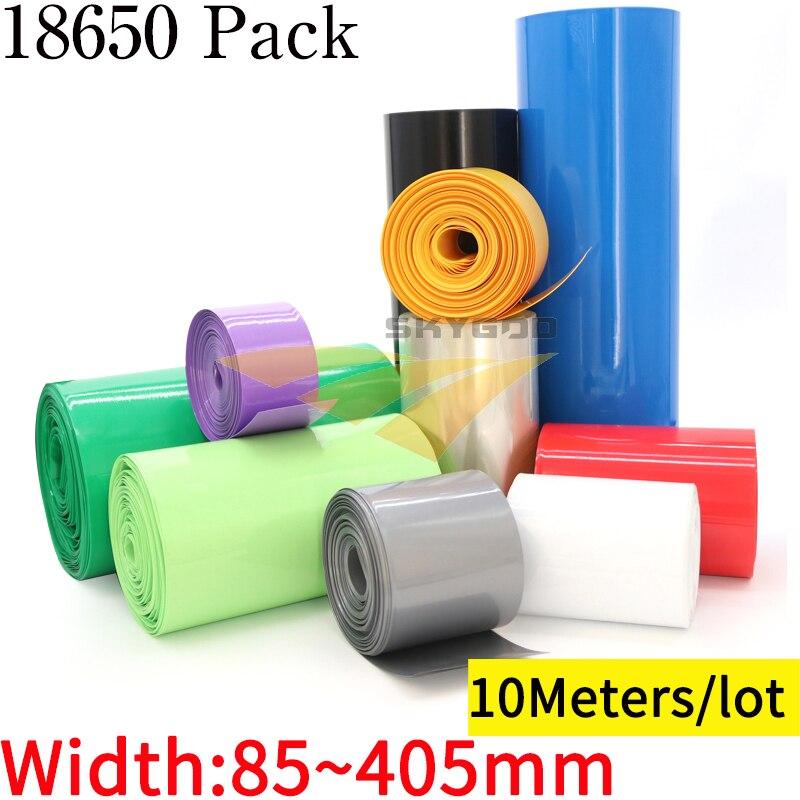 10M Breite 85 mm ~ 405 mm 18650 Lithium-Batterie PVC Schrumpf Schlauch Pack Isolierte Film Wrap Li-Ion fall Kabel Ärmeln Mantel