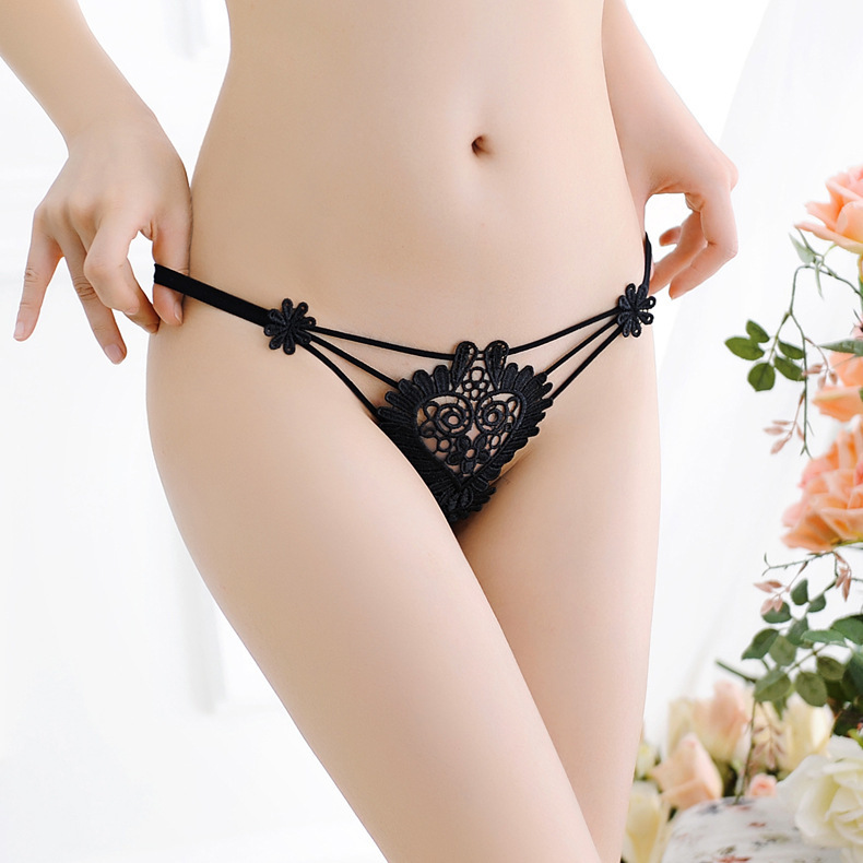 7color Gift Beautiful Lace Leaves Women's Sexy Lingerie Thongs G-string Underwear Panties Briefs Ladies T-back 1pcs/Lot  LE2133