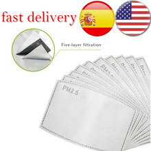Pm25 Filter ARBON-FILTER-PAPER Mouth-Mask Activated Non-Woven Anti-Haze Kids/adult Face Mask With Filter Activated Carbon Pad