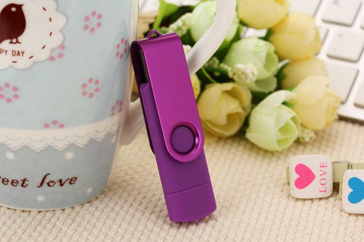 Новый OTG USB флеш-накопитель 32 ГБ 16 ГБ 8 ГБ металлическая карта памяти Флешка 32 Гб 64 Гб 128 ГБ флеш-накопитель usb флешка флэш-диск micro