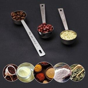 Image 2 - Coffee Scoop 15ml 30ml Stainless Steel Coffee Spoon Long Metal Sugar Powder Tea Scoop Kitchen Measuring Spoon Coffee Accessories