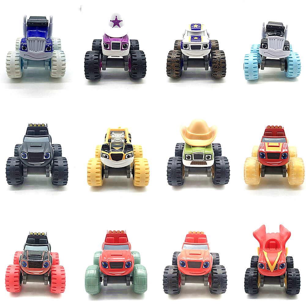 Metal Diecast Monster Machines Car Toys Russian Miracle Crusher Truck Vehicles Figure Blazed Toys For Children Gifts Blazer Toys