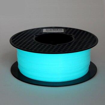 Noctilucous pla 3d プリンタフィラメント noctiucent 1.75 ミリメートル印刷材料 noctilucous 青、緑、紫 1 キロダーク