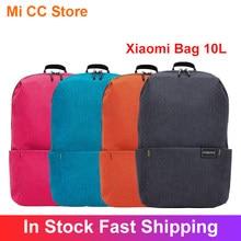 Original xiaomi mochila 10l colorido multi cenário aplicação confortável poliéster ombros mi saco