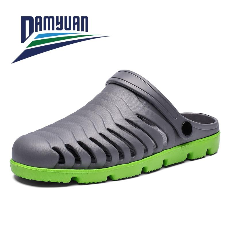 Damyuan Men's Slippers Spring Summer Beach Breathable Comfortable Waterproof Men's Casual Outdoor Walking Shoes