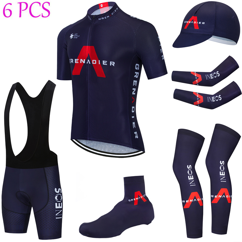 2021 equipo INEOS Ciclismo Jersey 20D pantalones conjunto Ropa Ciclismo rápido seco bicicleta vestir Maillot de manga calentadores