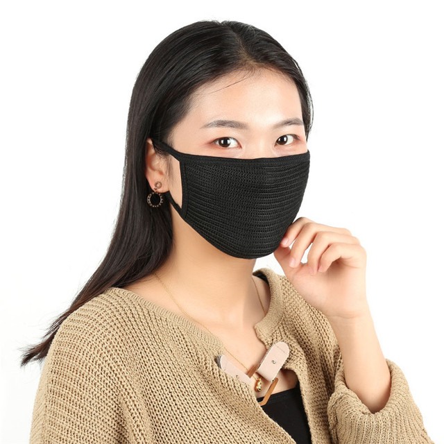Black Cotton Anti-Dust Face Masks Cycling Wearing Flue Face Mouth Mask Unisex Mouth Muffle  Motorcycle Face Mask