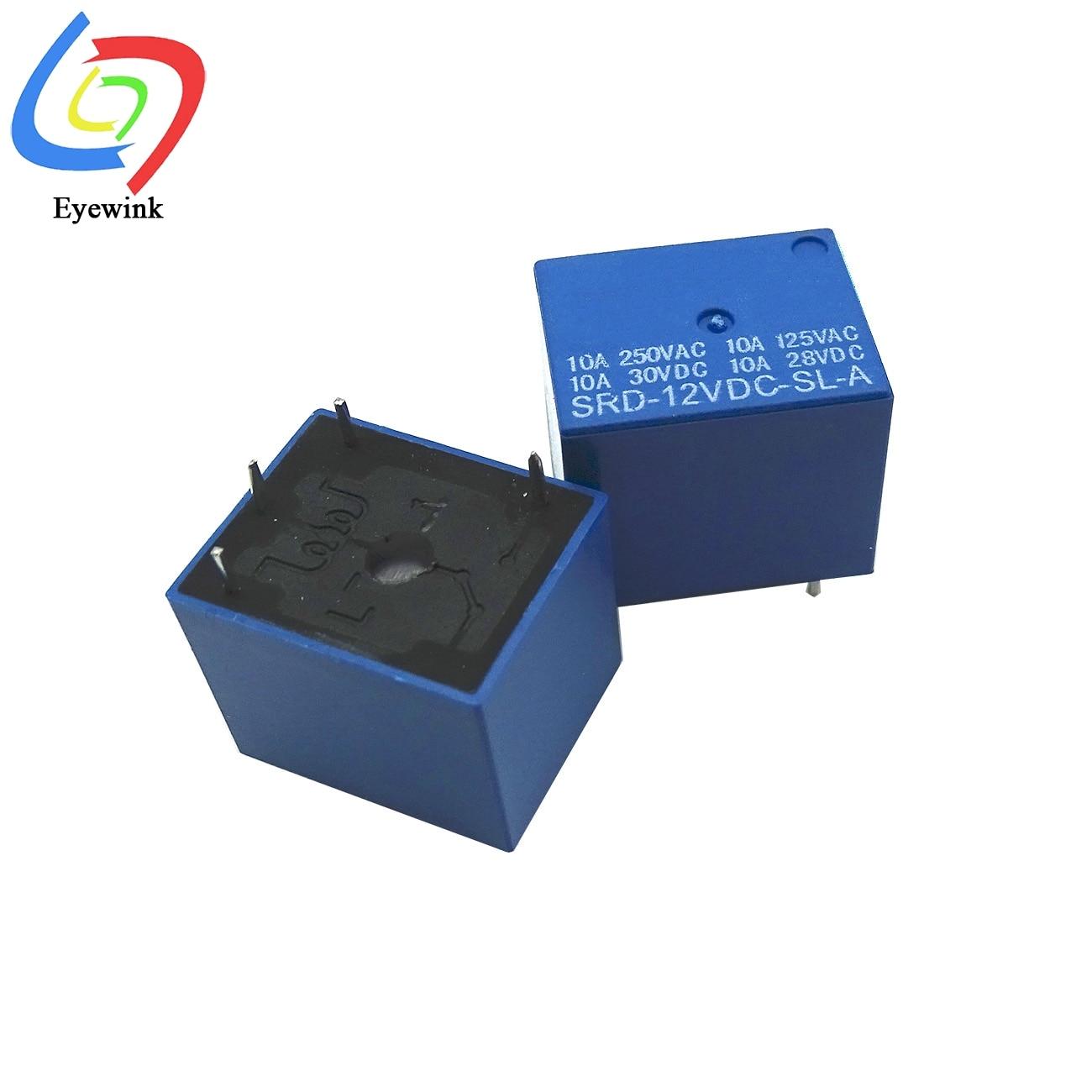 Реле мощности, 5 В, 12 В, 24 В постоянного тока, стандартный тип печатной платы, Стандартный Тип печатной платы