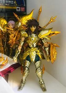 Image 5 - CS modeli aziz Seiya bez efsane ruhu tanrı SOG eski altın terazi Dohko metal kumaş SC014
