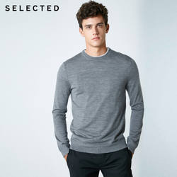 Выбранный новый мужской чистый цвет Италия шерстяной трикотаж свитер S | 418424503