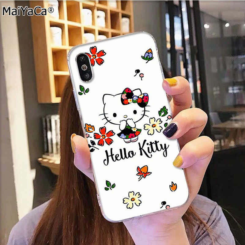 MaiYaCa Горячая модная Hello Kitty на продажу аксессуары для телефона чехол для iphone 11 pro 8 7 66S Plus X 5S SE XR XS MAX