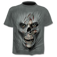 2021 Men's New Bone Printed 3DT Shirt Summer Fashion Short Sleeve T-Shirt Crazy Top Men/Women Short Sleeve Clothing