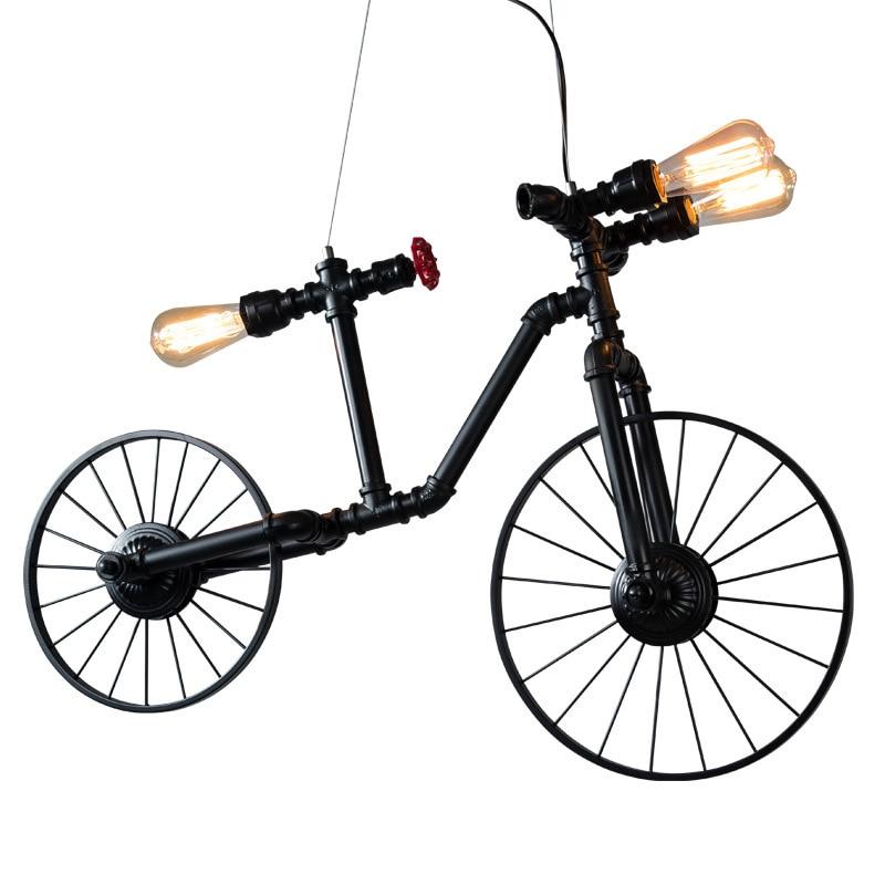 Chambre Restaurant Bar lampes suspendues vent industriel créatif individuel vélo pendentif lumières nordique fer rétro café pendentif lampe