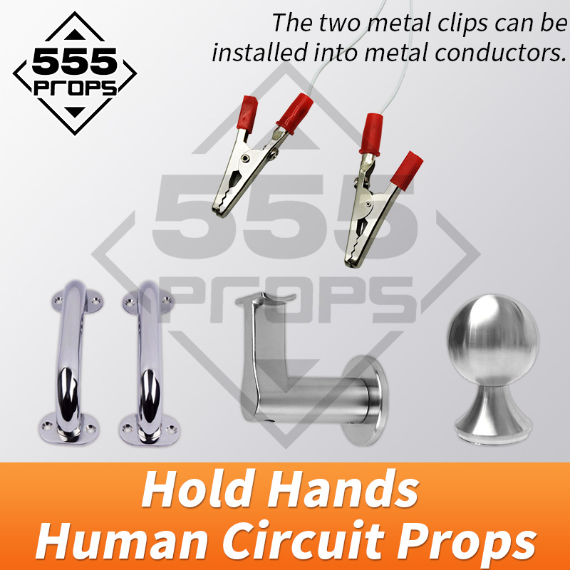 Adventure Escape room game props human circuit prop hold hand tools to unlock