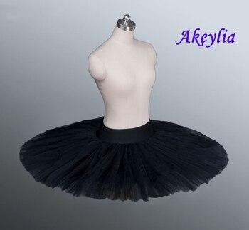 Firm Tulle Black Professional Half Ballet Tutu Tutus Pancake Practice Rehearsal Platter - discount item  5% OFF Stage & Dance Wear