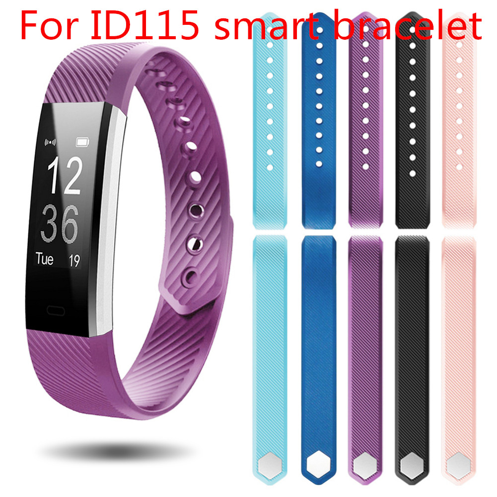 Multicolor Wrist Band Strap Replacement Silicone Smart Watch Bracelet Watchband For ID115 Pedometer Belt Smart Watch Accessories