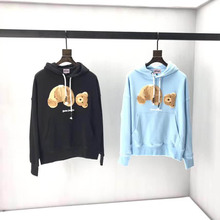 The New Palm Angels Hoodies Kill Bear Logo Sweatshirt 19SS Men Women Casual Real Pictures