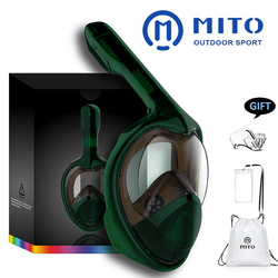 2019 Vista Panorâmica Completa Rosto Máscaras de Mergulho Anti-fog Anti-Vazamento de Natação Snorkel Underwater Scuba Máscara de Mergulho GoPro compatível