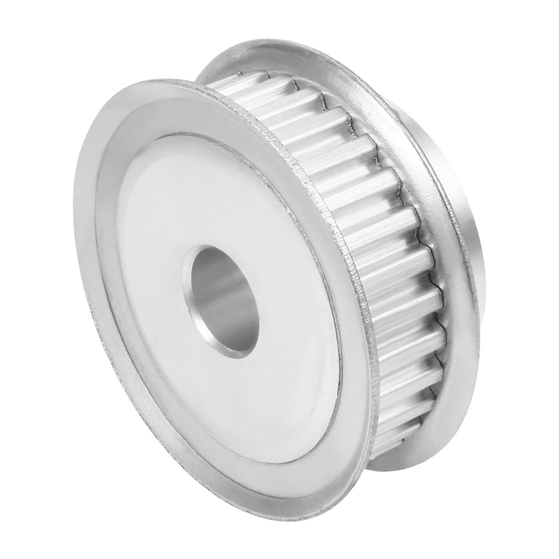 sourcing map Aluminum MXL 60 Teeth 6mm Bore Timing Belt Pulley Synchronous Wheel Silver for 10mm Belt 3D Printer CNC