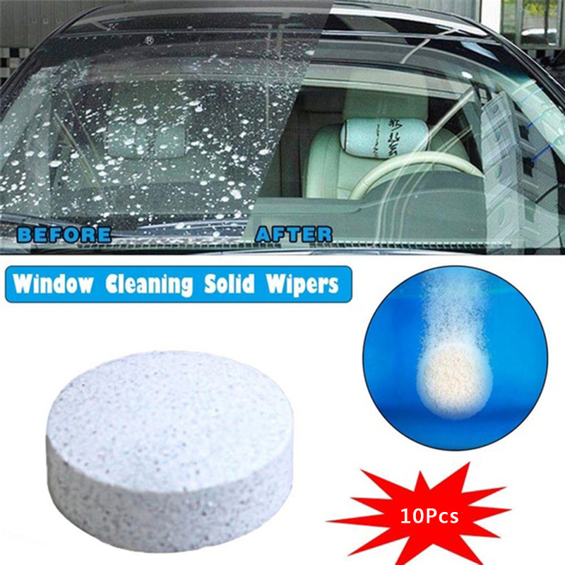 10pcs/set Car Washer Cleaner For  Windshield Glass Wiper Effervescent Spray With Bottle 200ml For Car Or Household Cleaning