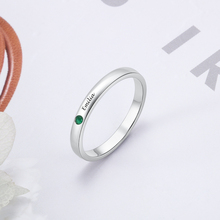 Personalized Ring 925 Promised Sterling Silver Jewelry Custom Name Birthstone Engraved ring Trendy Anniversary Gift for Women недорого