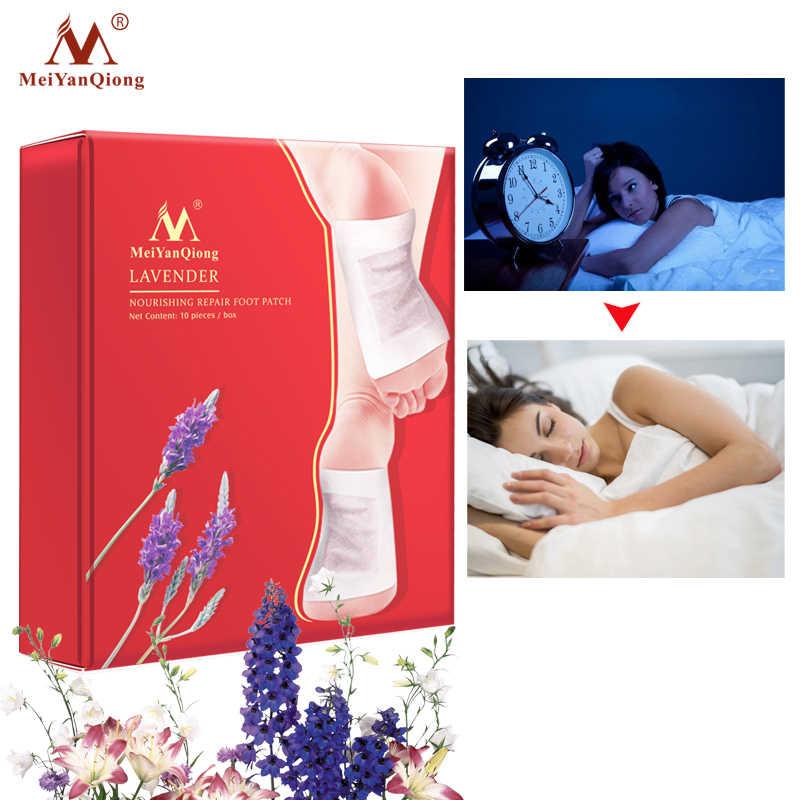 MeiYanQiong20pcs Lavendel Detox Voet Patches Pads Voedende Reparatie Voet Patch Verbeteren Slaap Kwaliteit Afslanken Patch Gewichtsverlies
