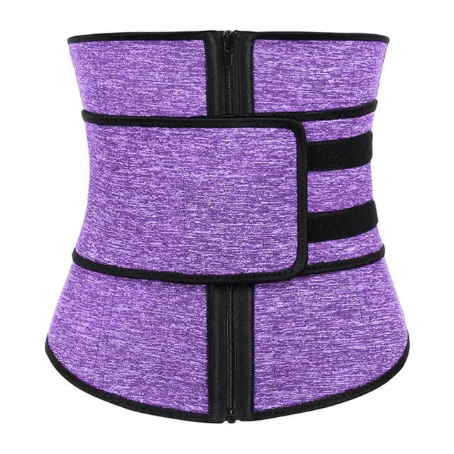 Neoprene Sauna Waist Trainer Corset Sweat Belt for Women Weight Trimmer Workout Fitness, Breathable & Durable 4