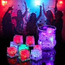 DishyKooker LED Ice Cubes Shape Glowing in Water Light Party Ball Luminous Flash Light Wedding Festival Bar Wine Glass