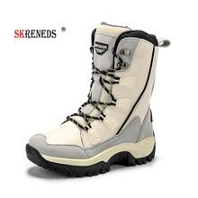 SKRENEDS New Arrival Fashion Waterproof Women Snow Boots Winter Warm Plush Women