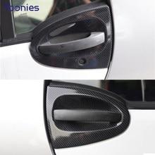 Coche de carbono estilo decorativos modificados pegatinas para Mercedes-Benz Smart 451 dos piezas de decoración de Interior y Exterior