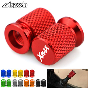 XMAX Motorcycle Tyre Valve CNC Aluminum Tire Air Port Stem Cover Cap Accessories for Yamaha XMAX 125 250 300 400 All Year(China)