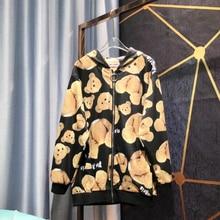 19ss Palm Angels Jackets Men Women Windbreaker Bear Camouflage Streetwear Baseball Bomber Jeans Hombre Army Jacket
