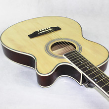Guitar Acoustic Cutaway Electro Electric-Steel-String Body 6-String Pop Folk Thin Light