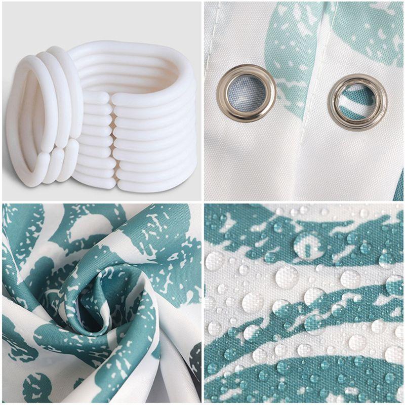 European Style Shower Curtain Bathroom Fall Curtains Waterproof Cloth for Shower Room Bath Use-1