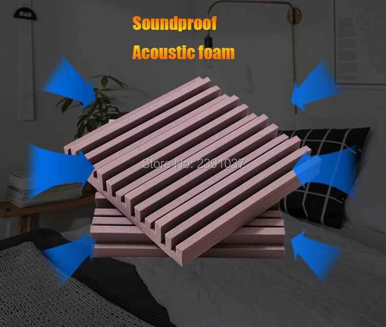 16pcs size 50*50*5cm Professional acoustic foam Groove style Soundproof acoustic panel studio foam for Video room / Office