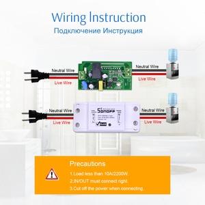 Image 5 - Itead Sonoff בסיסי Wifi מתג אלחוטי מרחוק DIY אוטומטי אור חכם בית אוטומציה ממסר מודול בקר עבודה עם Alexa