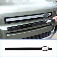 Für Land Rover Defender 90 110 2020 2022,ABS Schwarz, Auto Kühlergrill Trim Stange, logo Dekoration Pol, Auto Modifikation Zubehör