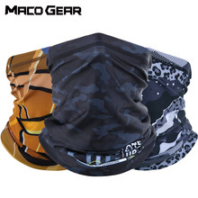 Printed Summer Breathable Cool Bandana Hiking Hunting Cycling Running Scarf Ski Riding Fishing Sports Half Face Mask Men Women