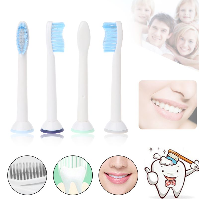 4Pcs/pack Electric Toothbrush Heads Replacement Fits for Philips Sonicare P-HX-6054/HX6054 Soft Bristles Oral Tooth Brush Heads image
