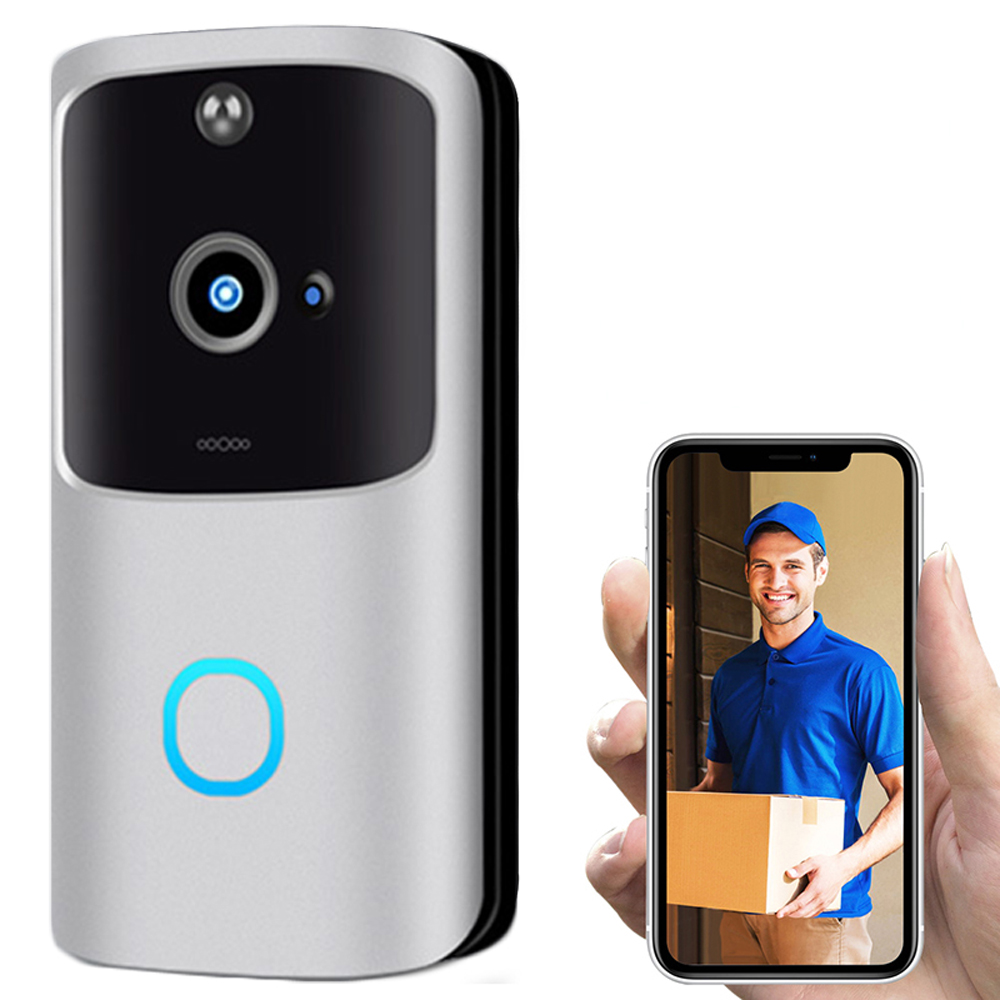 1080P Smart WiFi Camera Doorbell  Camera Video Wireless CCTV Phone APPIR Visual Camera Record Security System  Motion Detection