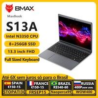 BMAX S13A 13.3 Inch Intel Celeron N3350 1920x1080 IPS Notebook 8GB RAM 128GB ROM Laptops Windows 10 Computer Pc Portable Netbook 1