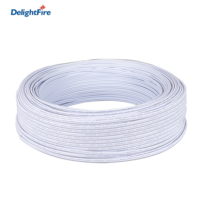 2 Pin White Cable LED Connector Cable 5/10/20/50/100m Electrical Wires 2pin Wire For 5050 2835 Single Color Lighting LED Driver