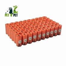 Sacos de cocô de cachorro terra-friendly 1080 contagens grandes sacos de resíduos de gato laranja unscented 60 rolos (sacos de recarga) saco de lixo