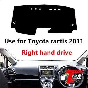 Taijs правый руль приборной панели автомобиля коврик использовать для T oyota Ractis 2011 солнцезащитный коврик полиэстер материал не двигаться горя...