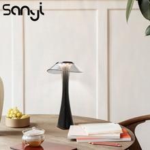 LED שולחן מנורת נוח ורך אור לחדר שינה/משרד שולחן מנורת מובנה USB טעינת סוללה שולחן לילה מנורה 3 מצבים