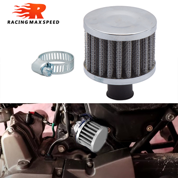 Universal 9mm 12mm Auto Air Filter for Motorcycle Cold Air Intake High Flow Crankcase Vent Cover Mini Breather Filters image