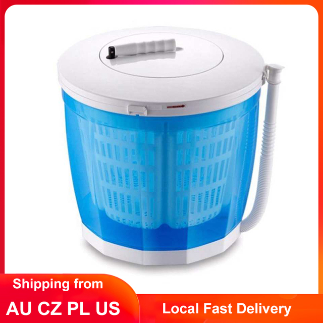 2KG Mini Washing Machine 2 in1 Portable Manual Turbines Washer with Spin Dryer for Camping Travelling Outdoor