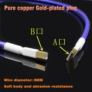 Image 3 - Xangsane tarjeta de sonido USB chapada en plata de cobre y cristal, DAC, línea de datos, A B bucal cuadrado, cable de sonido de fiebre