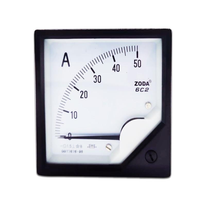1 шт. 6C2 5A 10A 30A 50A 100A 300A/75мв DC Аналоговый Амперметр Датчик панель указателей измеритель 80*80 мм DC Амперметр использование с шунтом
